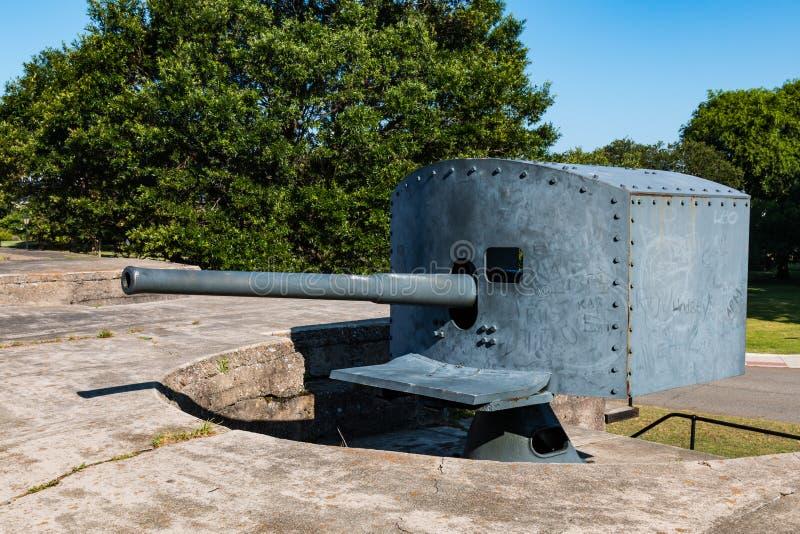 Antiek snel-Brandkanon bij Fort Monroe in Hampton, VA royalty-vrije stock afbeeldingen