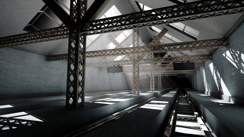 Antiek Station vector illustratie