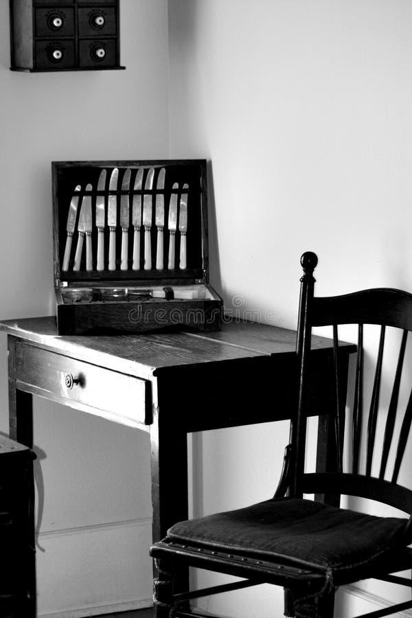 Antiek tafelzilver royalty-vrije stock afbeelding