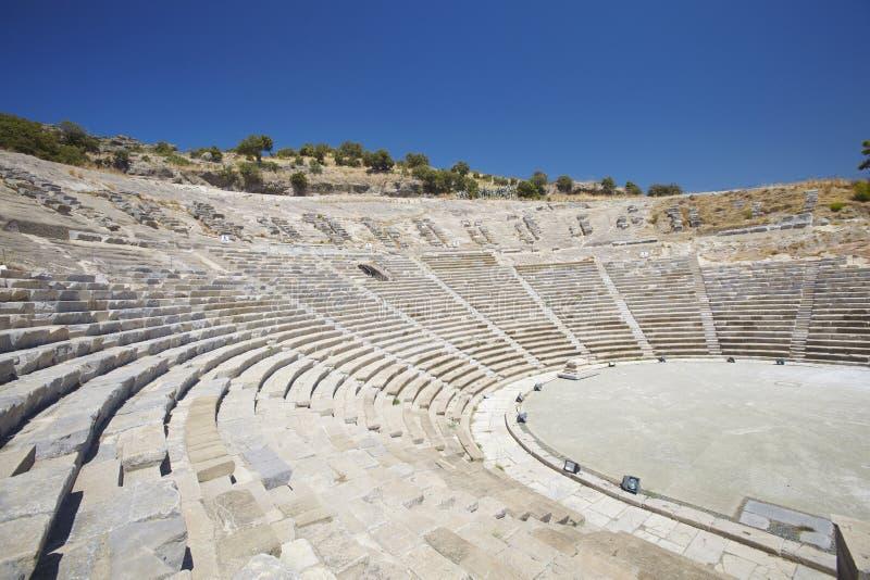 Antiek Theater In Bodrum, Turkije Royalty-vrije Stock Afbeelding - Afbeelding...
