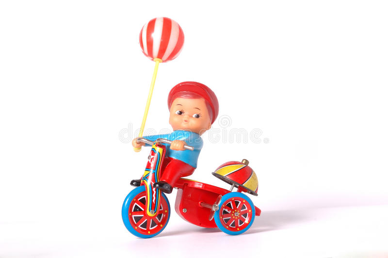 Antiek tinstuk speelgoed royalty-vrije stock afbeelding