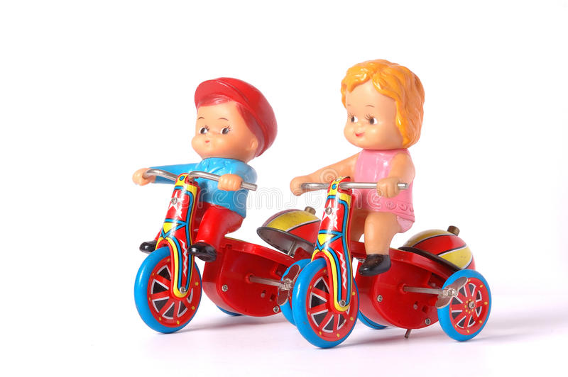 Antiek tinstuk speelgoed royalty-vrije stock foto's