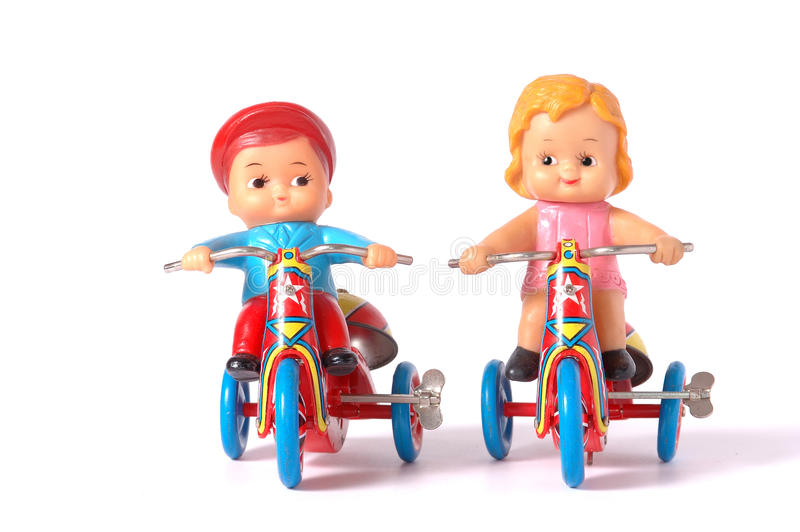 Antiek tinstuk speelgoed royalty-vrije stock foto