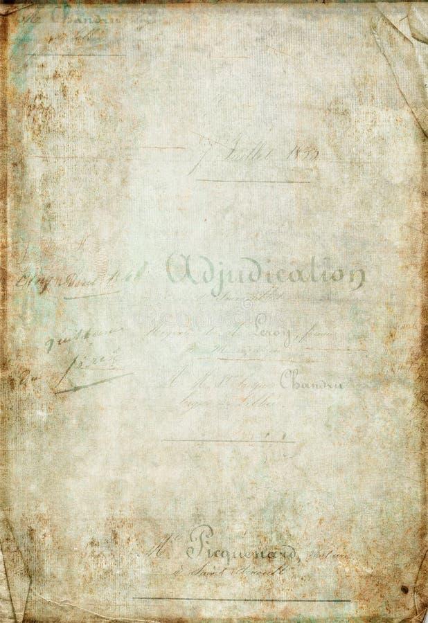 Antiek uitstekend plakboekdocument royalty-vrije stock foto's