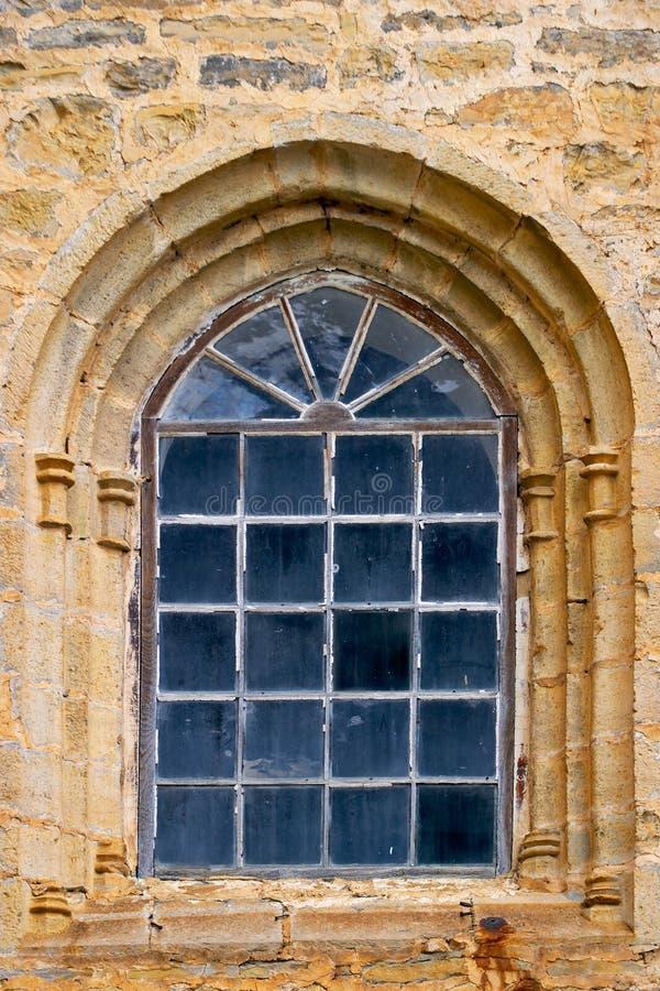 Antiek venster stock afbeelding