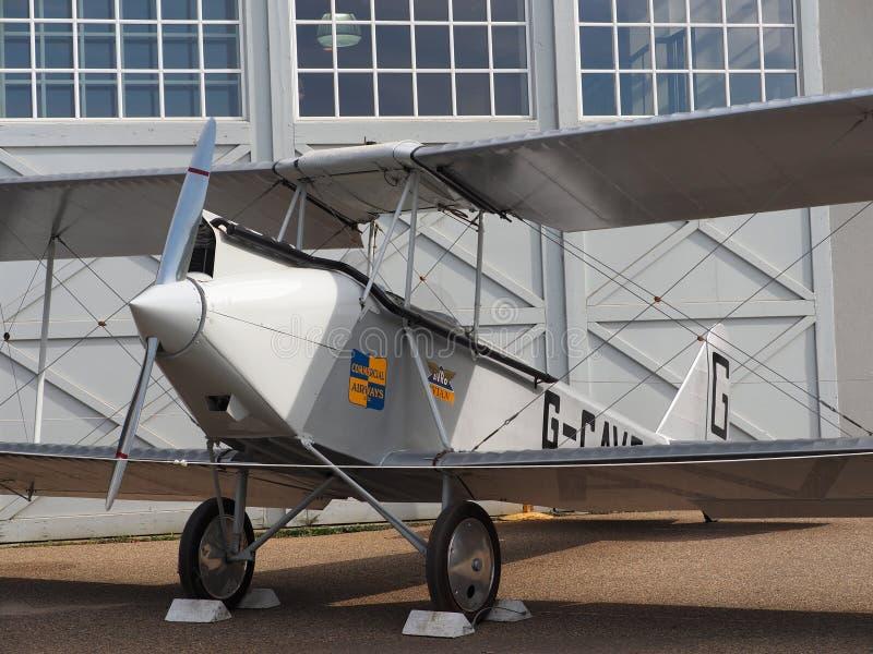 Antiek Vliegtuig met Propeller royalty-vrije stock foto's