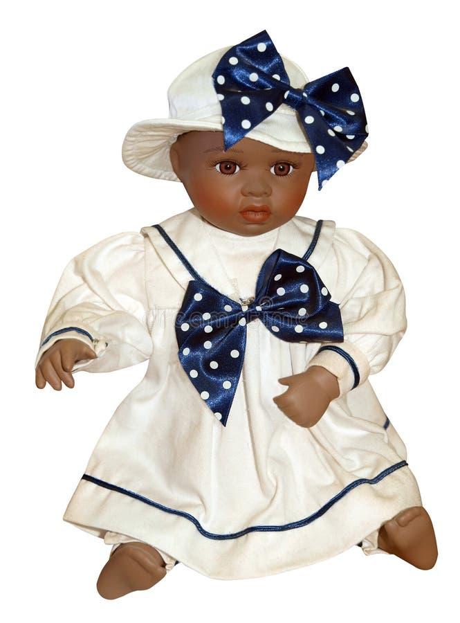 Antiek Zwart Doll stock afbeeldingen
