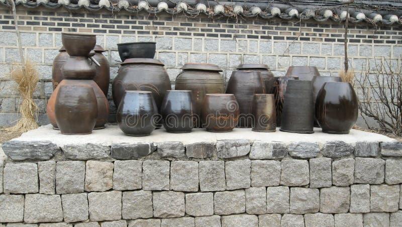 Antieke aardewerk Koreaanse volkswijsheid en cultuur royalty-vrije stock fotografie