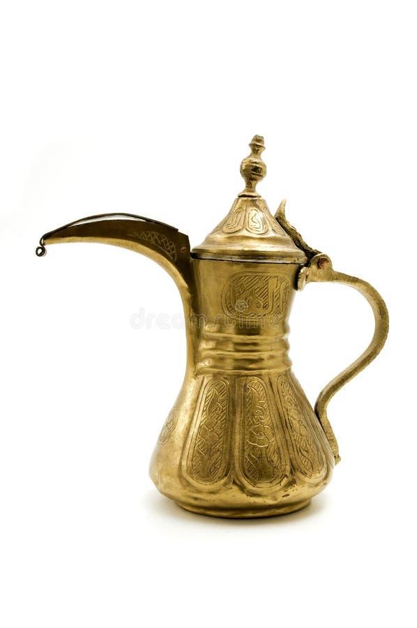 Antieke Arabische theepot royalty-vrije stock afbeeldingen