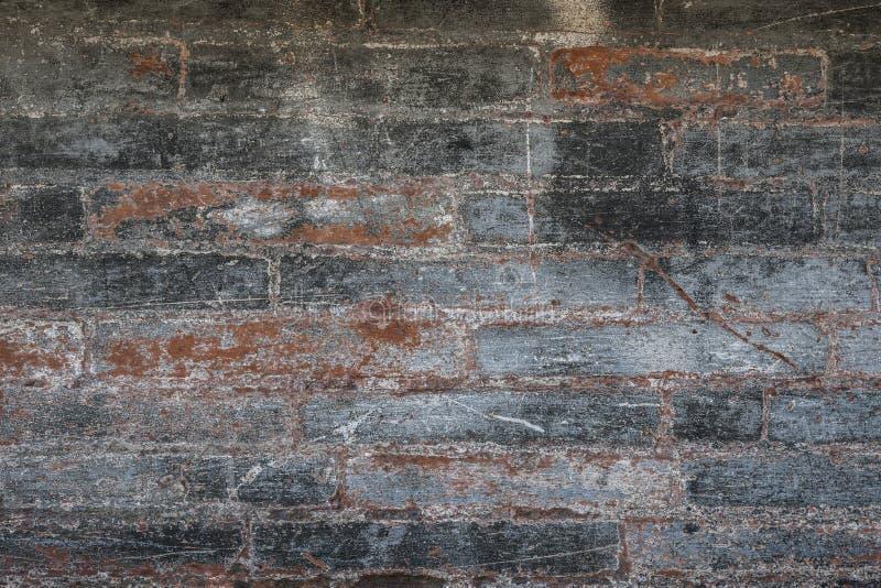 Antieke bakstenen muur stock fotografie