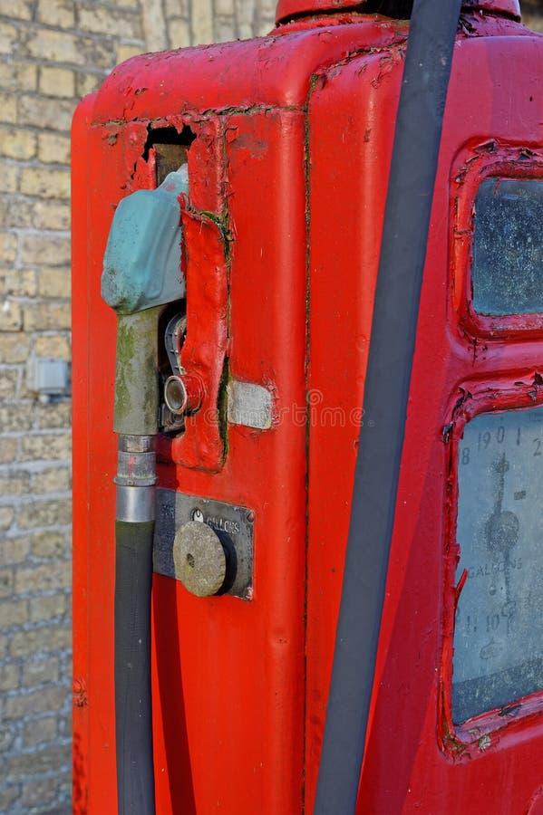 Antieke Benzine, of Benzine, Pomp - Detail stock afbeelding