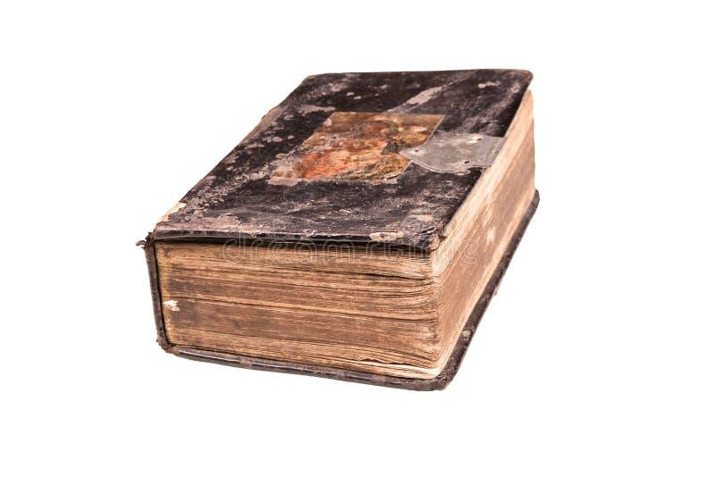 Antieke bijbel. stock afbeelding