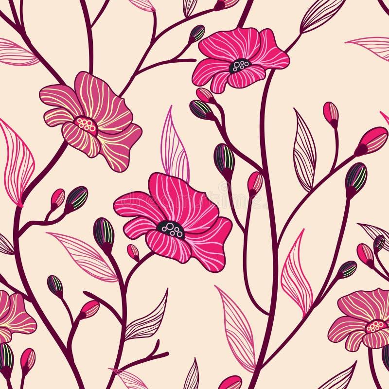 Antieke bloemen stock illustratie