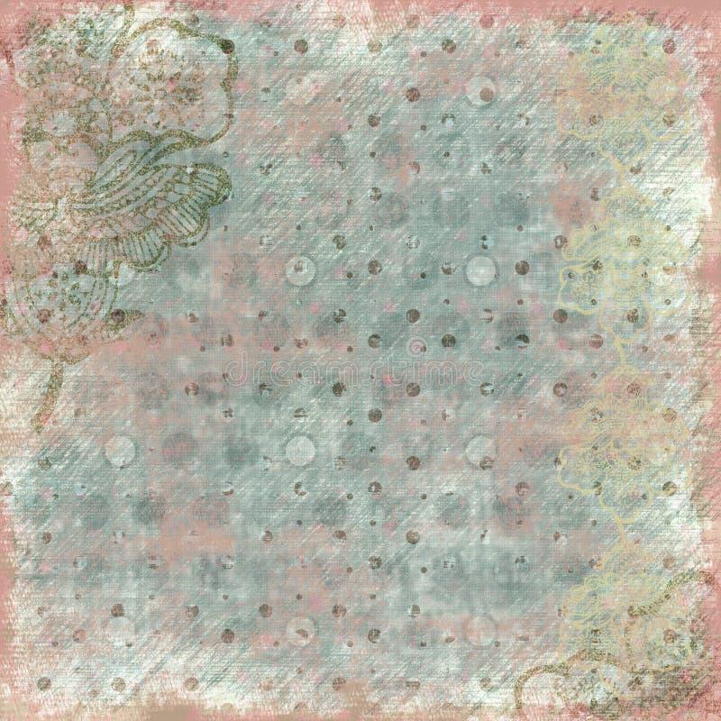 Antieke BloemenAchtergrond royalty-vrije illustratie