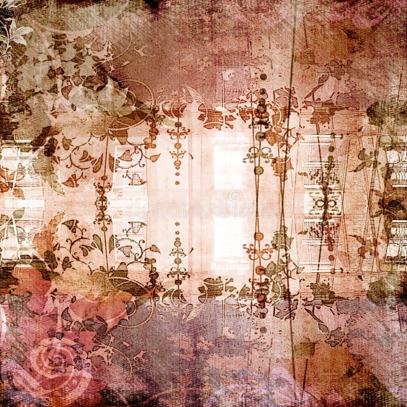 Antieke BloemenAchtergrond royalty-vrije stock afbeelding