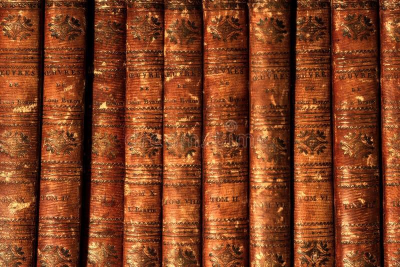 Antieke boeken Byron stock afbeeldingen