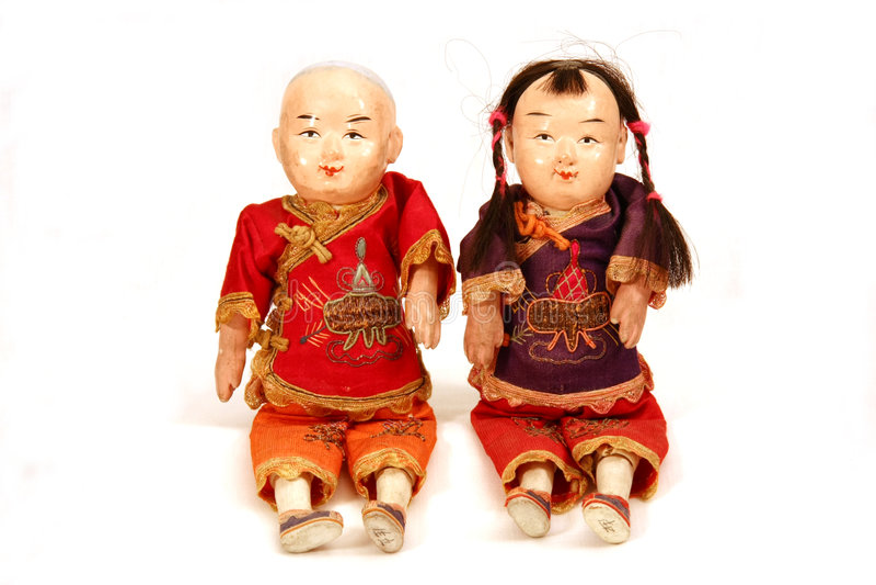 Antieke Chinese Doll stock fotografie