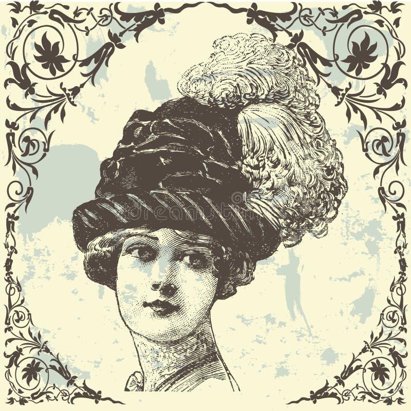 Antieke Dame vector illustratie