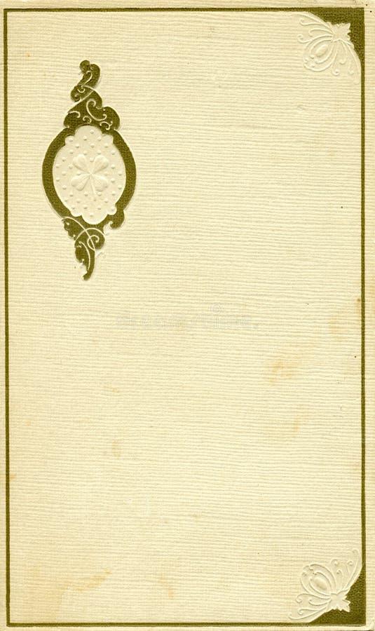 Antieke dekking met ontwerp stock foto