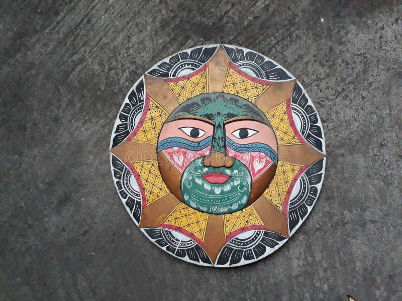 Antieke die maskers van hout worden gemaakt royalty-vrije stock foto