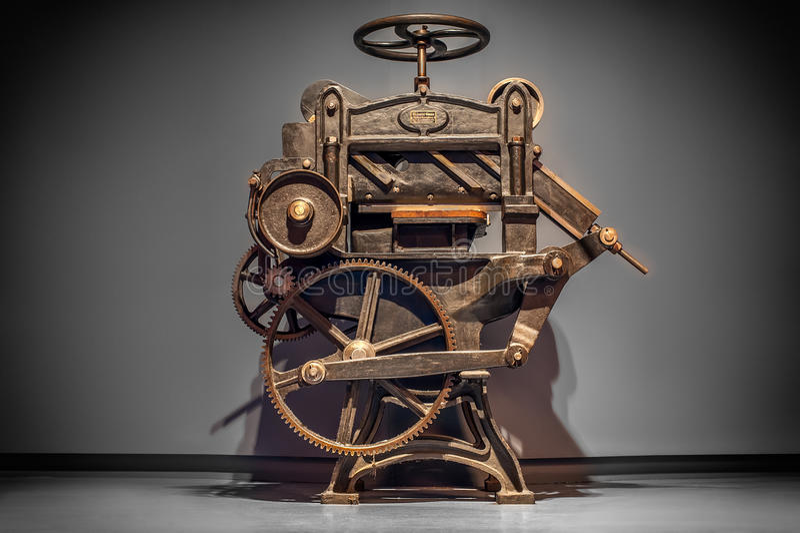 Antieke drukpers royalty-vrije stock foto's
