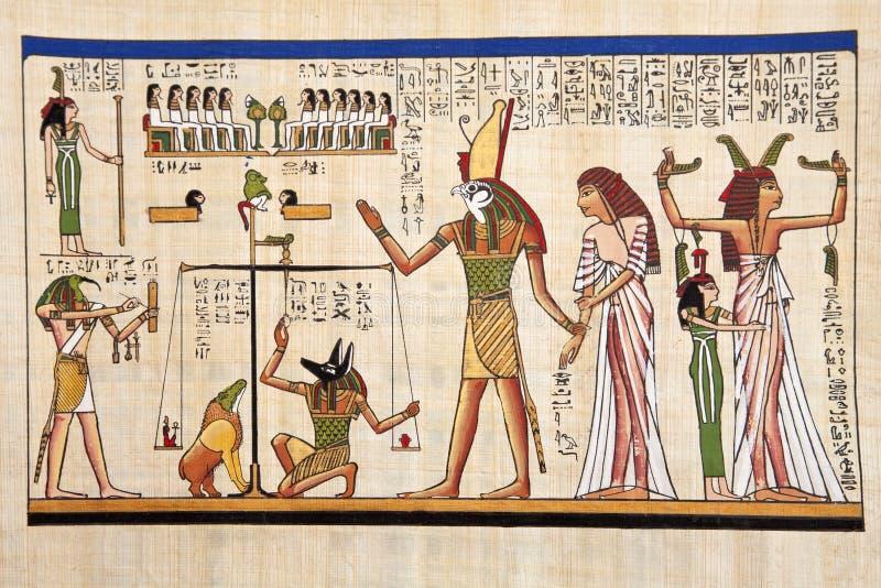 Antieke Egyptische papyrus stock afbeelding