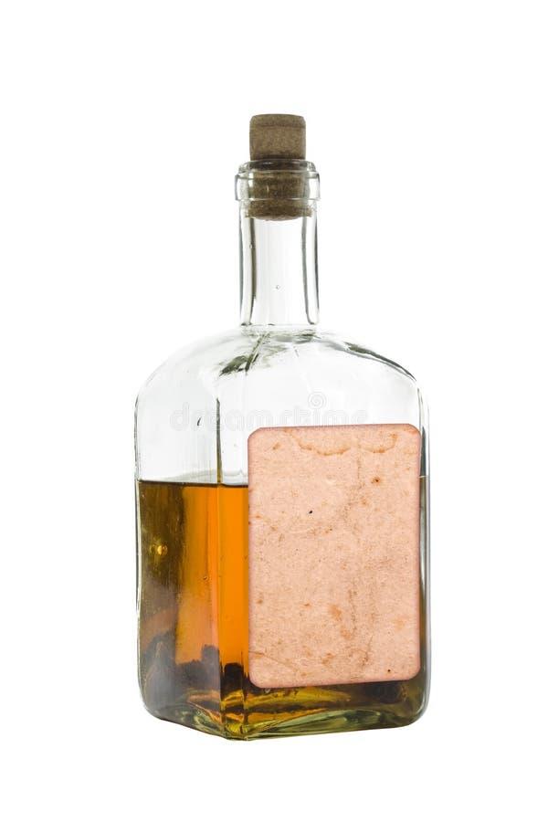 Antieke fles van geesten stock foto