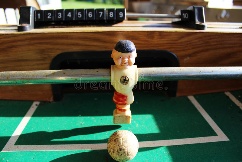 Antieke Foosball stock afbeelding