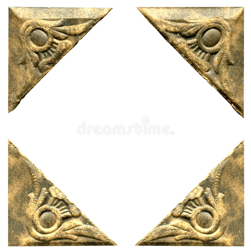 Antieke fotohoeken royalty-vrije stock foto