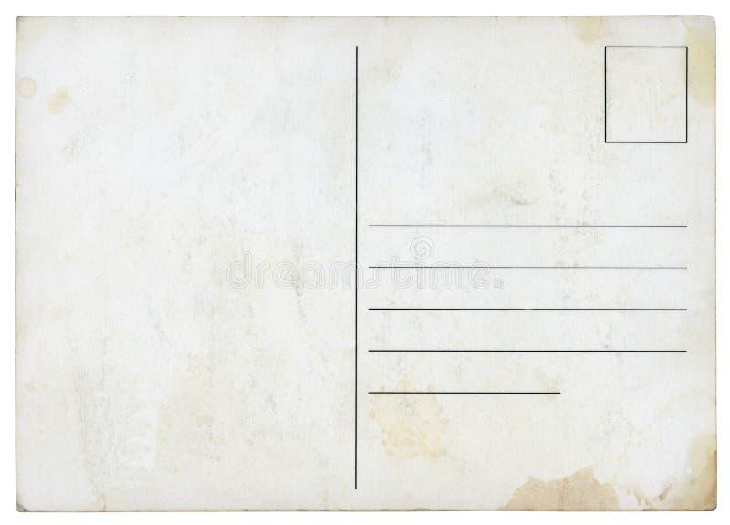 Antieke geïsoleerde Prentbriefkaar - royalty-vrije stock foto