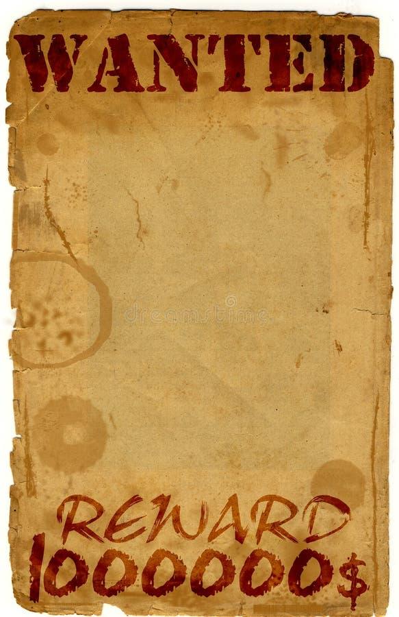 Antieke gewilde pagina - royalty-vrije illustratie