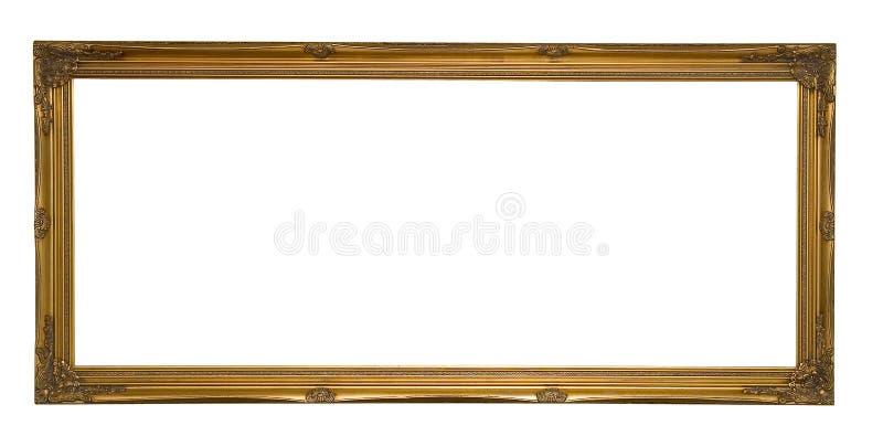 Antieke Gouden Panoramische Omlijsting stock foto