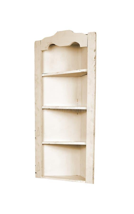 Antieke houten geïsoleerde garderobe royalty-vrije stock foto