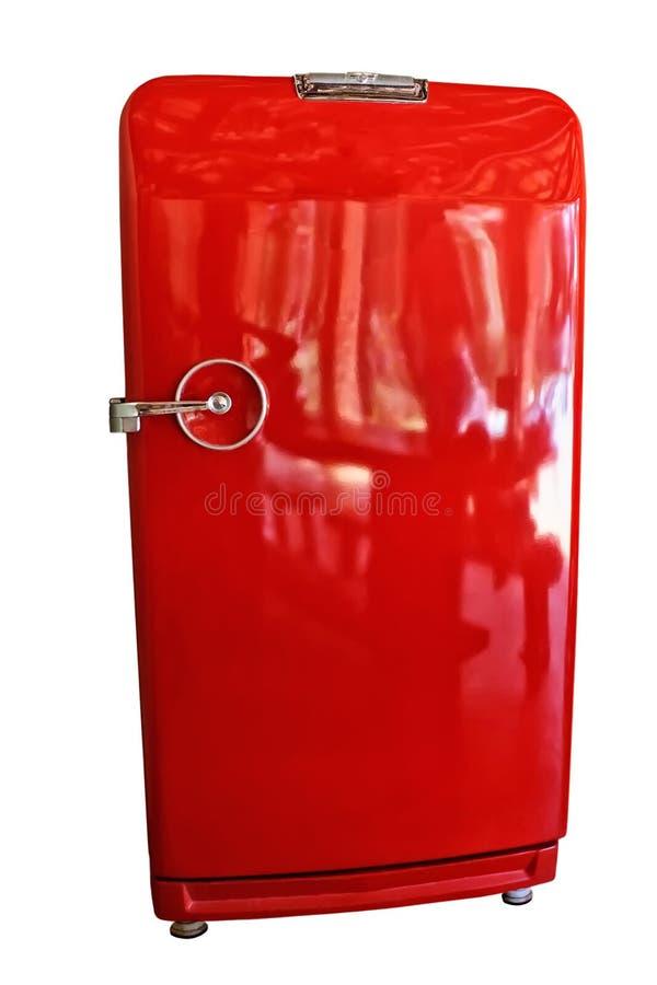 Antieke ijskast stock afbeelding afbeelding bestaande uit bevroren 23147703 - Ijskast rood smet ...
