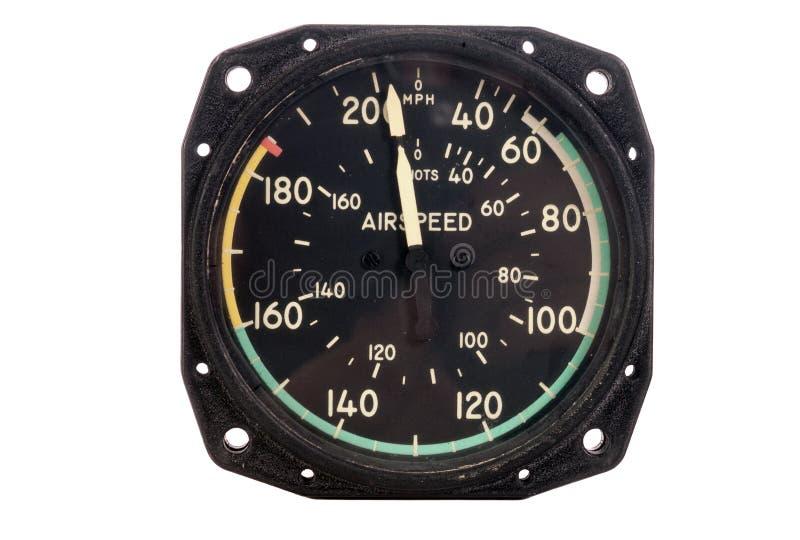 Antieke indicator Airspeen royalty-vrije stock fotografie