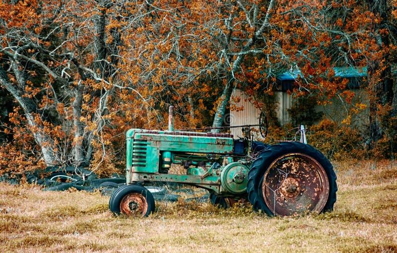 Antieke John Deere tractor stock foto's