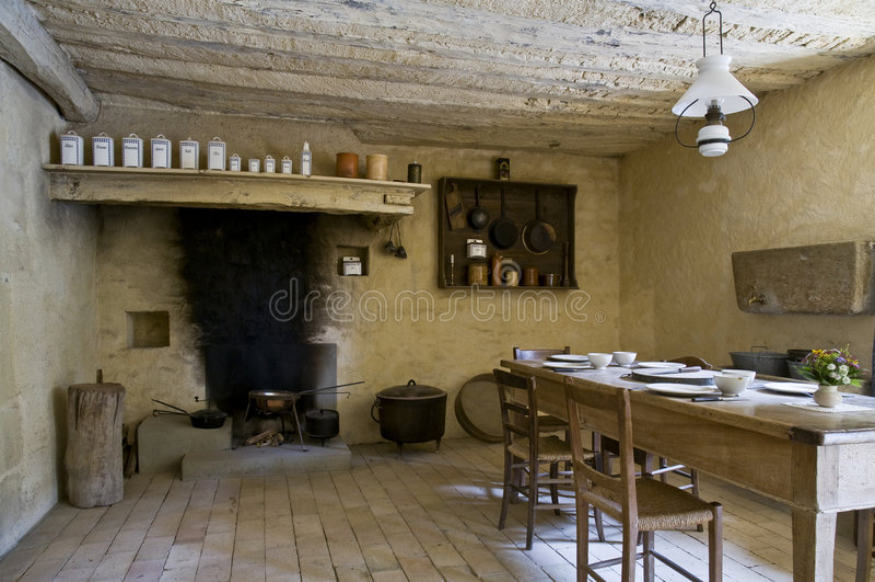 Antieke keuken royalty-vrije stock foto's
