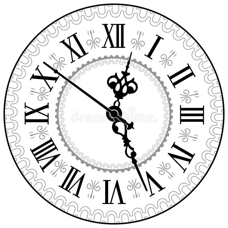 Antieke klok vector illustratie