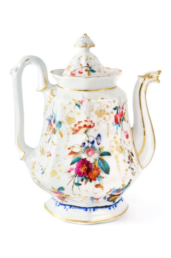 Antieke koffiepot van 19de eeuw & x28; Biedermeier time& x29; stock afbeeldingen