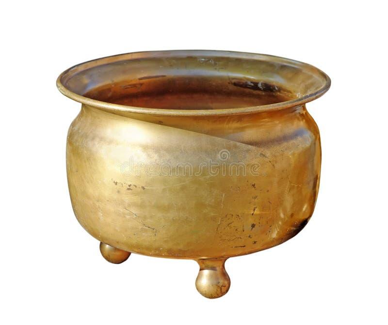 Antieke koper kamer-pot royalty-vrije stock foto