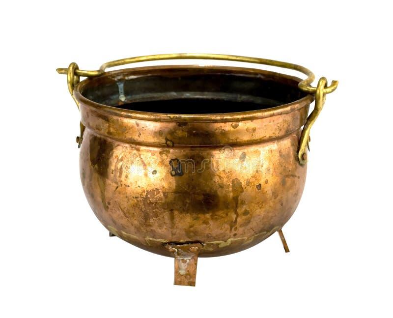 Antieke koperkom royalty-vrije stock afbeelding