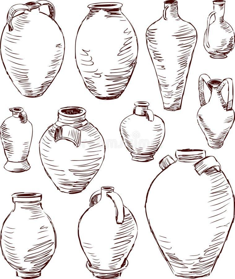 Antieke kruiken royalty-vrije illustratie