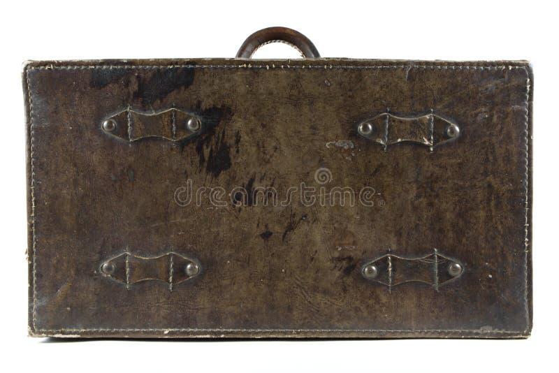 Antieke leerbagage royalty-vrije stock foto