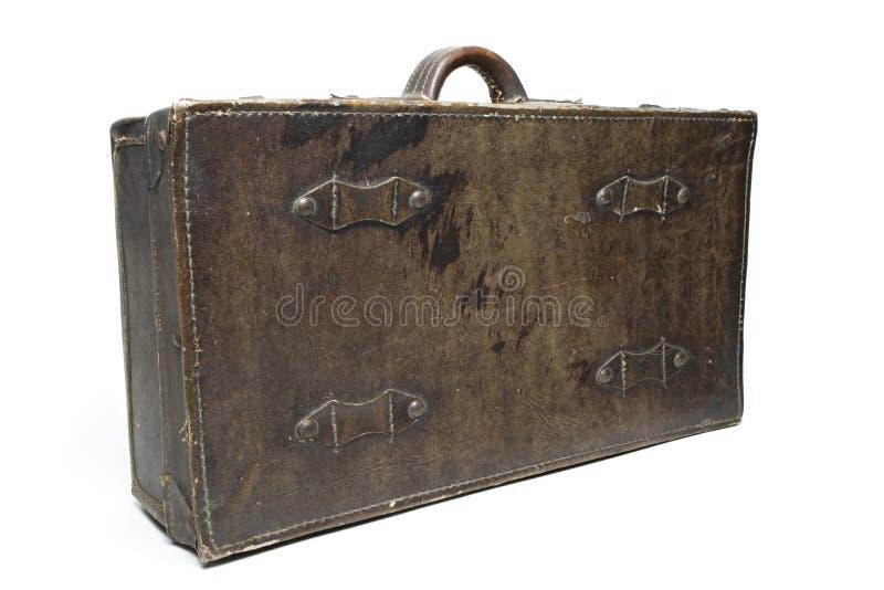 Antieke leerbagage royalty-vrije stock fotografie
