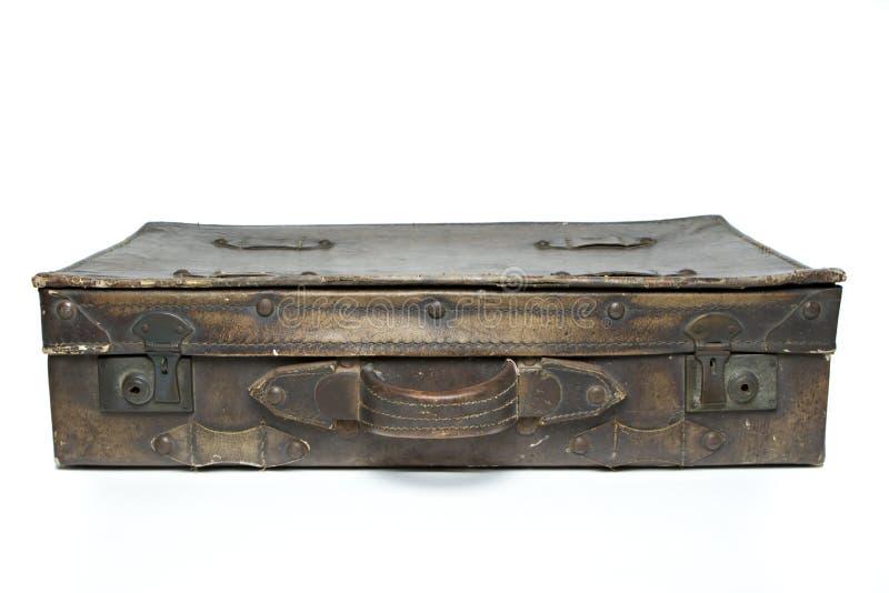 Antieke leerbagage stock foto's