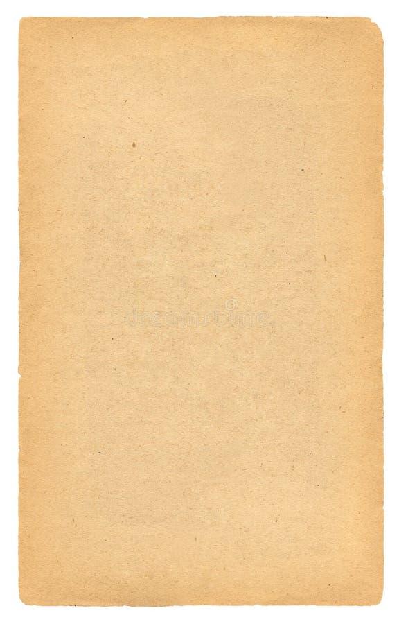Antieke lege document pagina stock afbeelding