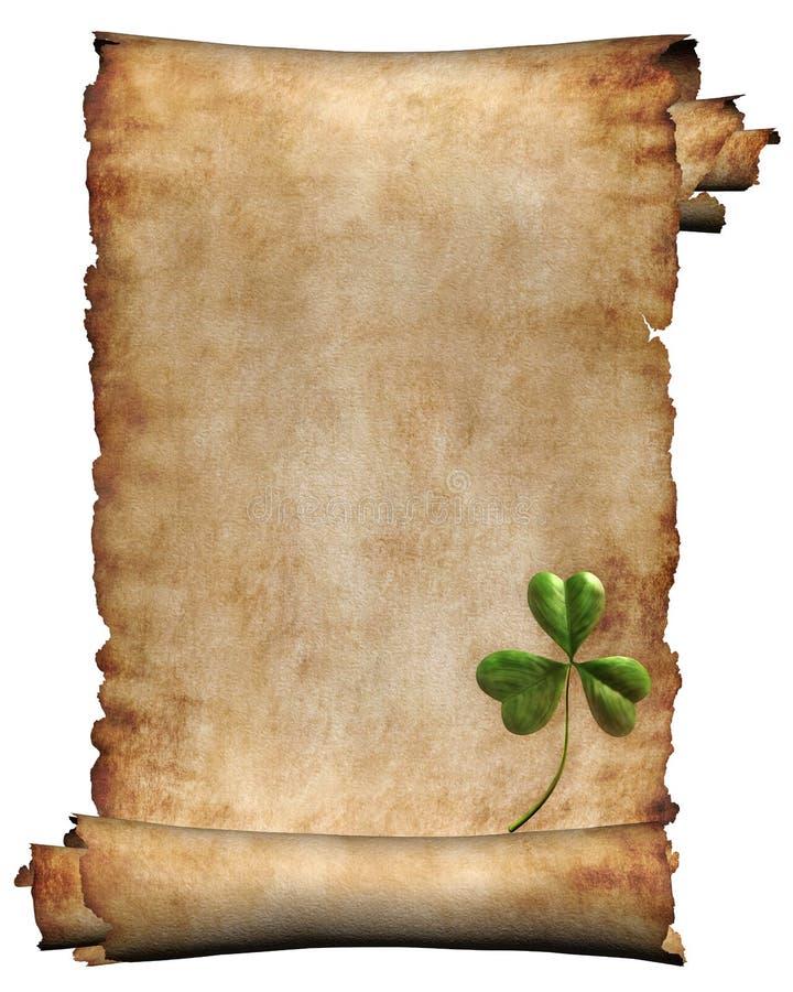 Antieke manuscriptendocument geïsoleerde achtergrond stock illustratie