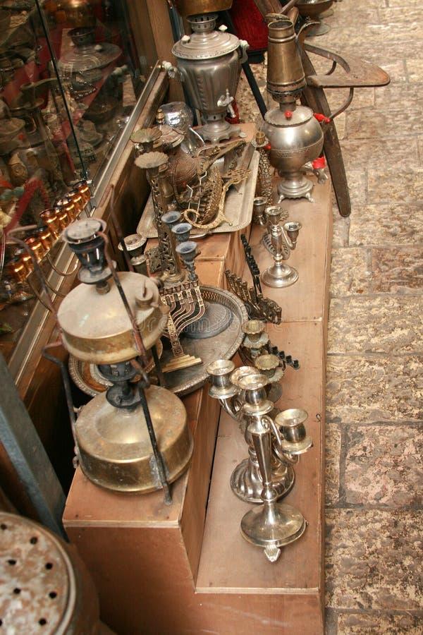 Antieke markt stock afbeeldingen