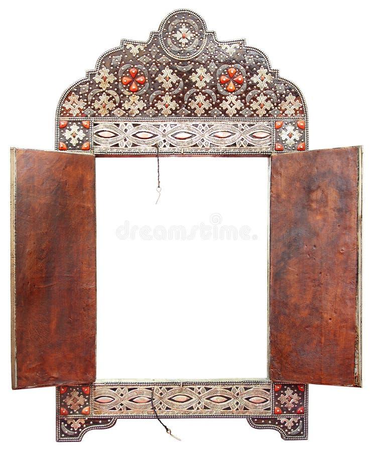 Antieke Marokkaanse spiegel royalty-vrije stock foto's