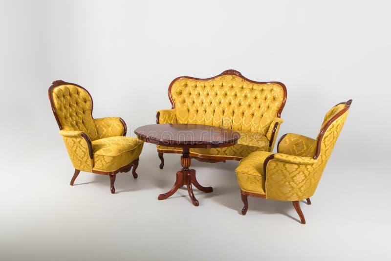 Antieke meubilairreeks royalty-vrije stock afbeelding